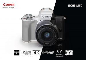 แคนนอน เผยโฉม EOS M50 กล้องมิเรอร์เลสคุณภาพจัดเต็ม   ใหม่ล่าสุดในซีรีส์ M